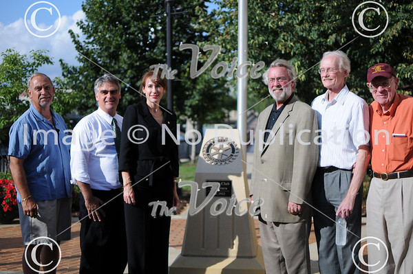 Rededication of Rotary Plaza in Aurora, Ill 8-12-13