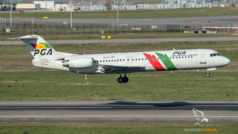 PGA Portugalia Airlines / Fokker 100 / CS-TPF