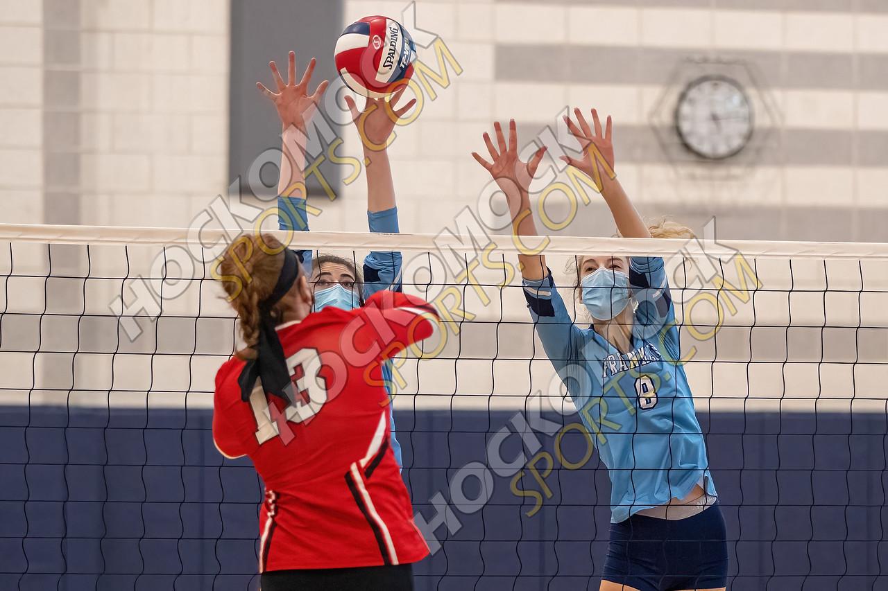 Franklin-MIlford volleyball action (HockomockSports.com photo)