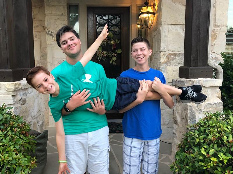 Mason, Collin and Quinn | 12th, 9th and 5th | Cedar Park High School and Deer Creek Elementary School