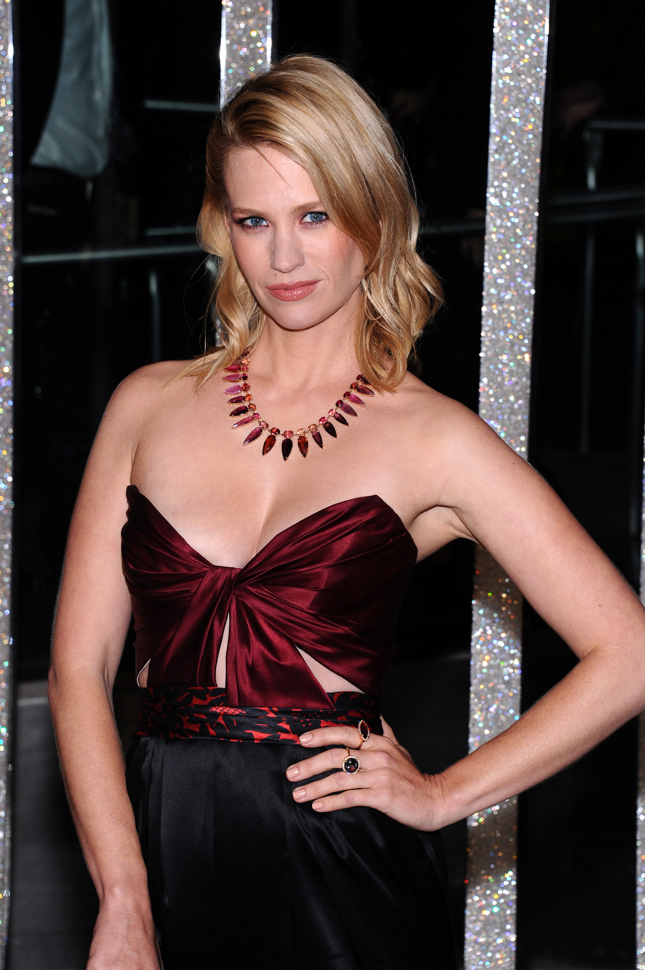 . January Jones attends the 2015 CFDA Fashion Awards at Alice Tully Hall on Monday, June 1, 2015, in New York. (Photo by Charles Sykes/Invision/AP)