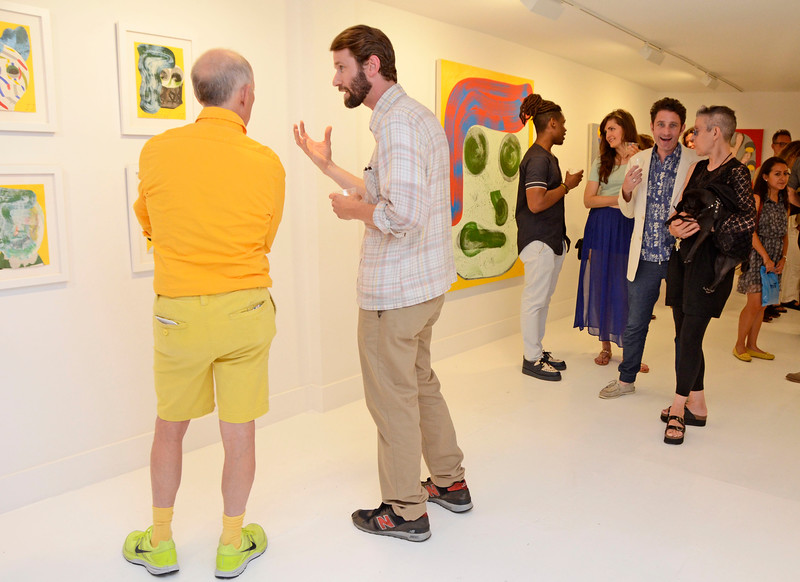 "EAST VILLAGE, NEW YORK - JUNE 24: Josh Jefferson ""Head First"" opening at the TURN Gallery on June 24, 2015 in East Village, New York. (Photo by Lukas Maverick Greyson)"