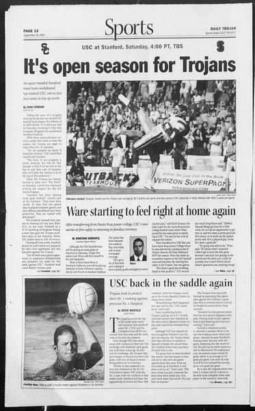 Daily Trojan, Vol. 153, No. 23, September 24, 2004