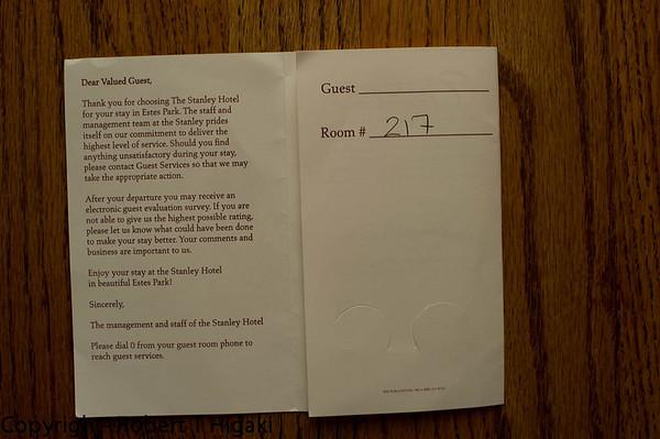 Stanley Hotel- Room 217