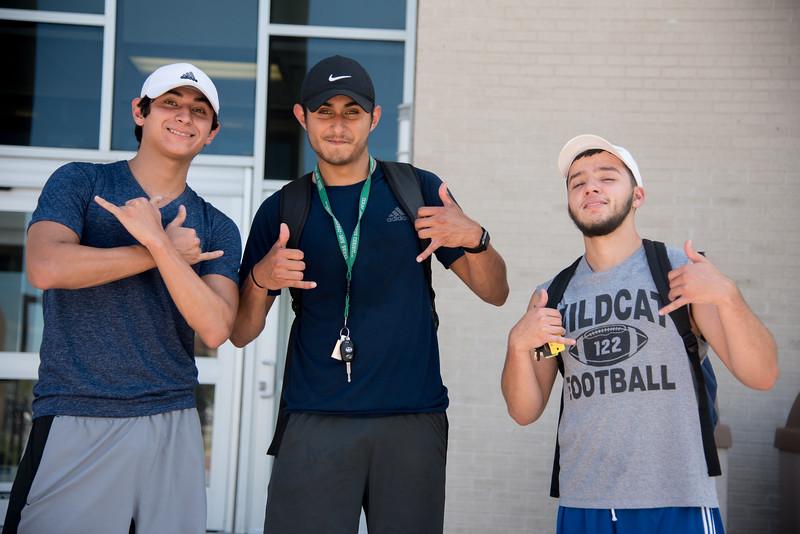 Get pumped with Sebastian Villarreal(left) Sinfoyozo Villarreal(middle) and Brandon Saenz at the Dugan Wellness Center!