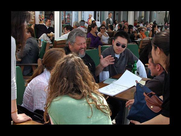 Jim Warfield with Sketch Students in Mykonos, Greece - 2008.jpg