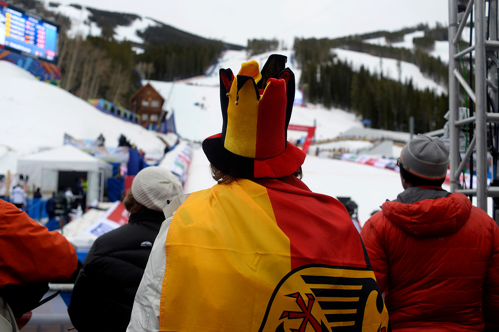. BEAVER CREEK, CO - FEBRUARY 15: Fans watch the action during the men\'s slalom. FIS Alpine World Ski Championships 2015 on Sunday, February 15, 2015. (Photo by AAron Ontiveroz/The Denver Post)