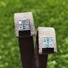 Art Deco Diamond and Emerald Disc Earrings 55