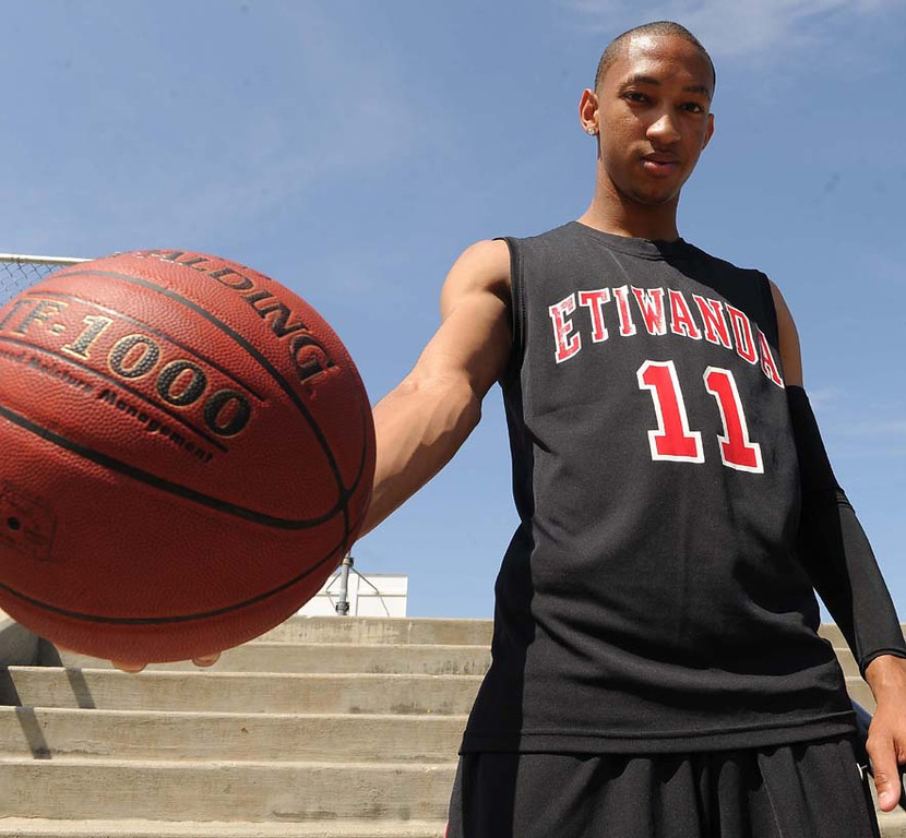 . Jordan McLaughlin of Etiwanda High School has been named to the Inland Valley Daily Bulletin\'s All-Valley Boys Basketball First Team Player of the year. LaFonzo Carter/ Staff Photographer