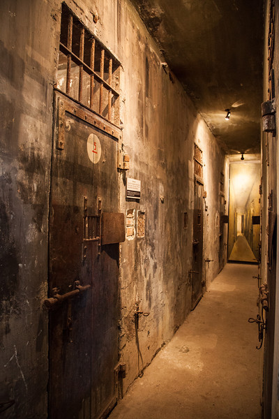 """A corridor in the """"death row"""" section of Hoa Lo Prison."""