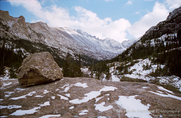 Longs peak towers over Glacier gorge