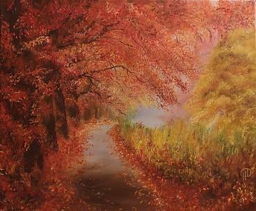 """Autumn-Rhapsody"" (oil on canvas) by Natali Demina"