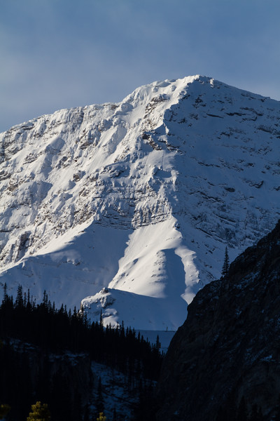 Snowy, icy mountain top