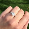 2.03ct Emerald Cut Diamond Ring, GIA K IF 5