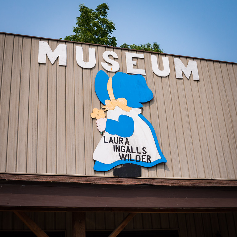Laura Ingalls Wilder Museum sign in Pepin, Wisconsin
