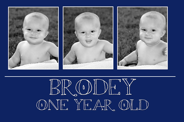 Brodey One Year Old Session