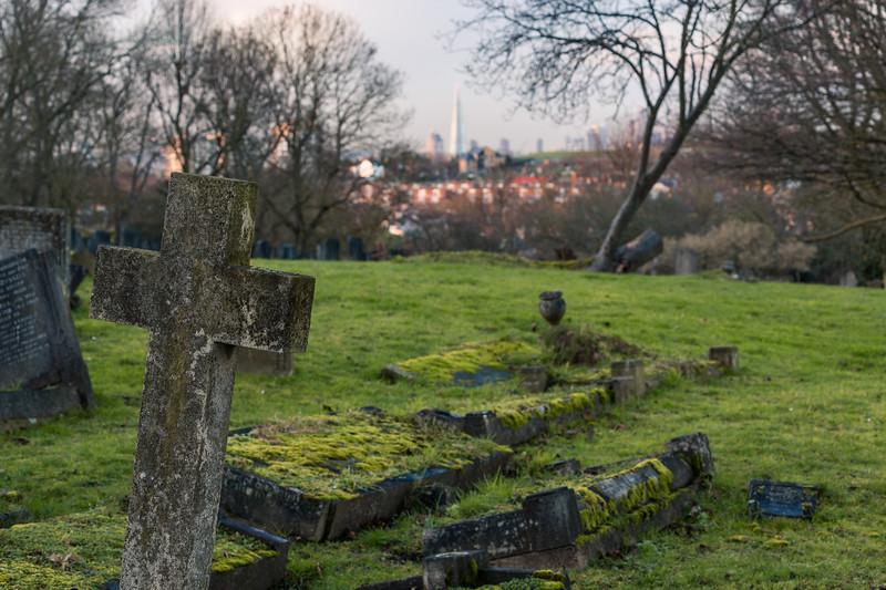 Gravestone on London's Cambwerwell Cemetery