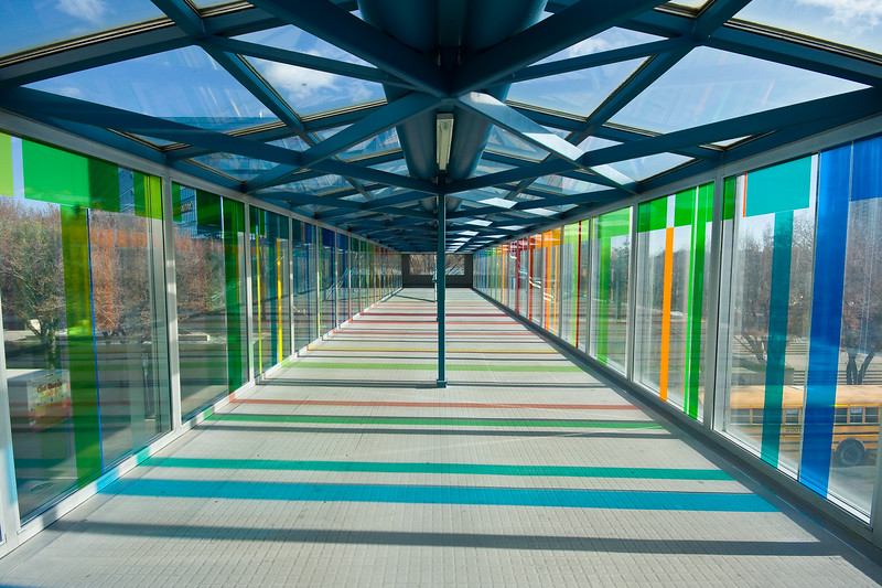 Walkway of Colored Light