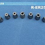 SKU: R-ER25/SET, ER25 Collet Standard Set, Includes 3mm, 4mm, 6mm, 8mm, 10mm, 12mm and 1/2inch Collet