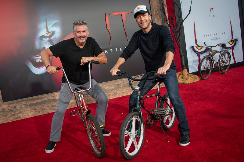 """WESTWOOD, CA - AUGUST 26: Michael Rosenbaum and Harland Williams attend the Premiere Of Warner Bros. Pictures' """"It Chapter Two"""" at Regency Village Theatre on Monday, August 26, 2019 in Westwood, California. (Photo by Tom Sorensen/Moovieboy Pictures)"""