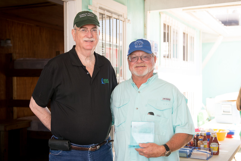 Flavius Killebrew(left) and Roy Lehman at the 2015 TAMU-CC Alumni Shrimp Boil. Saturday October 3, 2015 in Corpus Christi
