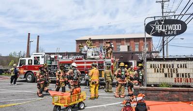 Harmony Township commercial structure fire Duss Avenue