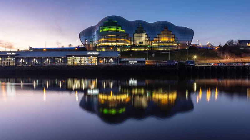 Sage Gateshead on the River Tyne