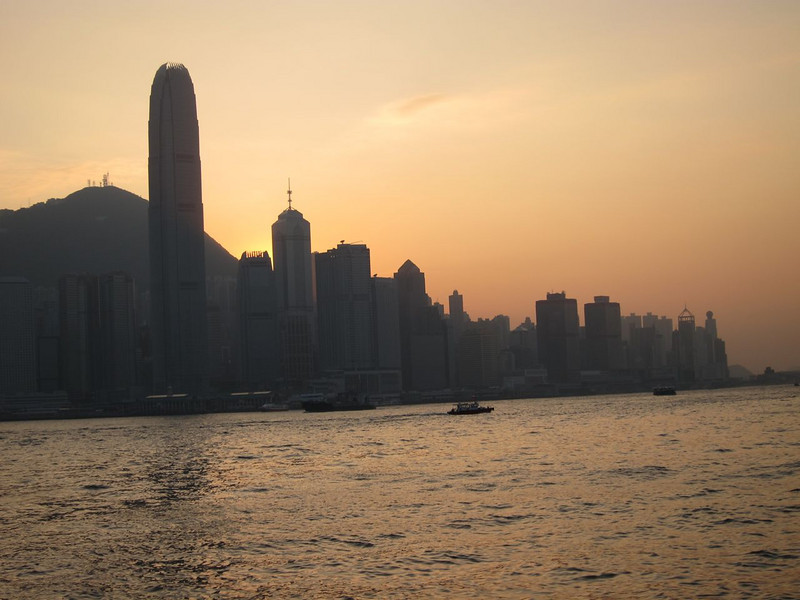 Twilight on the harbor