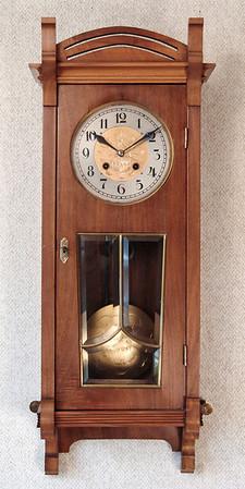 VR-507 Time and Strike Austrian Jugendstil Wall Clock by Josef Koch in Wien