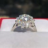 2.87ctw old European Cut Diamond Spray Ring GIA J SI1 9