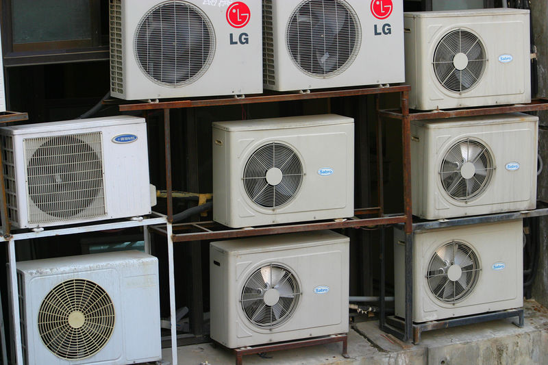 Air Conditioners outside the office building.