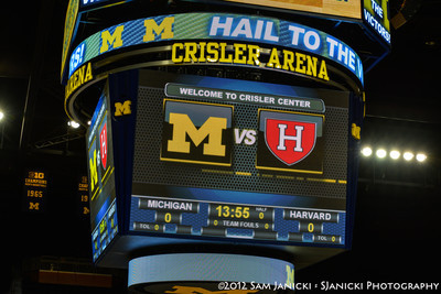 Michigan Women's Basketball Vs Harvard 11-23-12