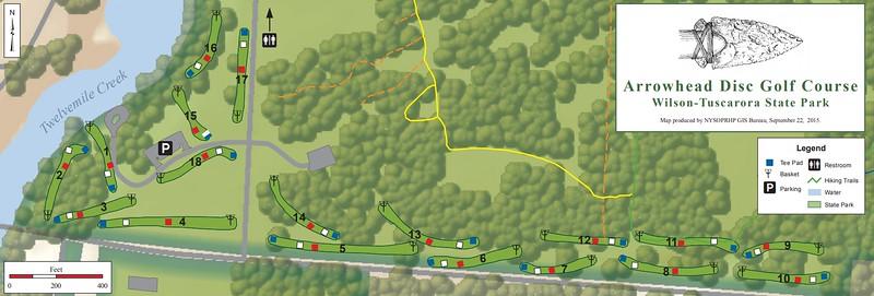 Wilson-Tuscarora State Park (Disk Golf Course Map)