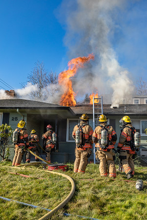Structure Fire - 25 NW Sleret Ave, Gresham, OR - 1/23/21