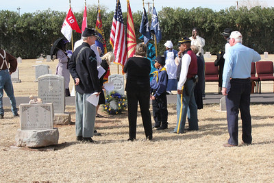 February 2, 2013 Pvt.  Ambrose Skinner, Buffalo Soldier Dedication and  Memorial Service at Greenwood Memory Lawn Cemetery, Phx.