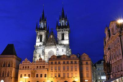 Prague at Night, Dusk, & Close to Sunset (2017)
