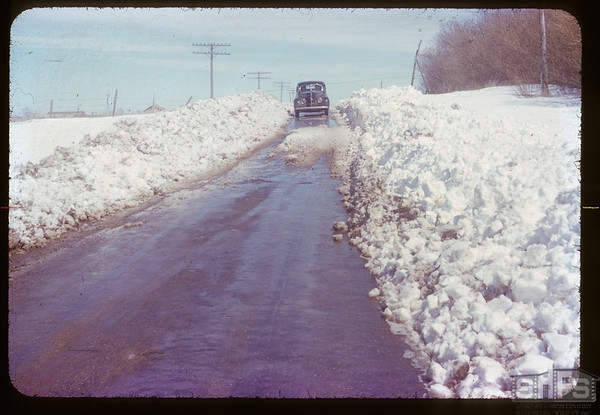 Contry side covered with snow. Crestwyne. 05/12/1953.
