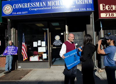Bay Ridge Peace Action Tells Rep. Grim: End These War!