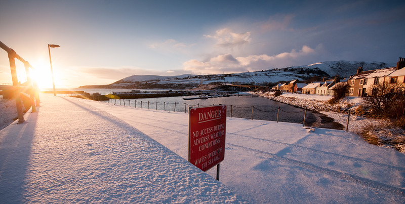 Snow on Helmsdale Harbour