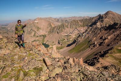From the summit of Snow Peak, Gore Range, CO