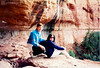 In an Indian cave in a canyon Sedona December 1994