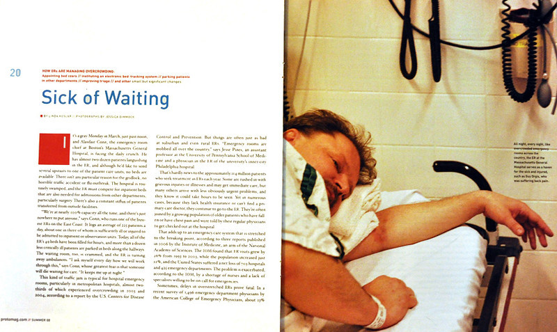 Proto medical magazine, sponsored by Massachusetts General Hospital, with publishing by Time Inc. Content Solutions. Photo essay by Jessica Dimmock.