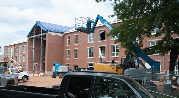06/21/18 Wesley Bunnell | Staff Renovations continue for Willard and DiLoreto Halls on the CCSU campus on Friday June 22.