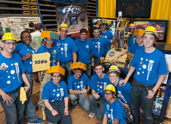 FIRST Robotics 2012 crowd,mascots,excitement