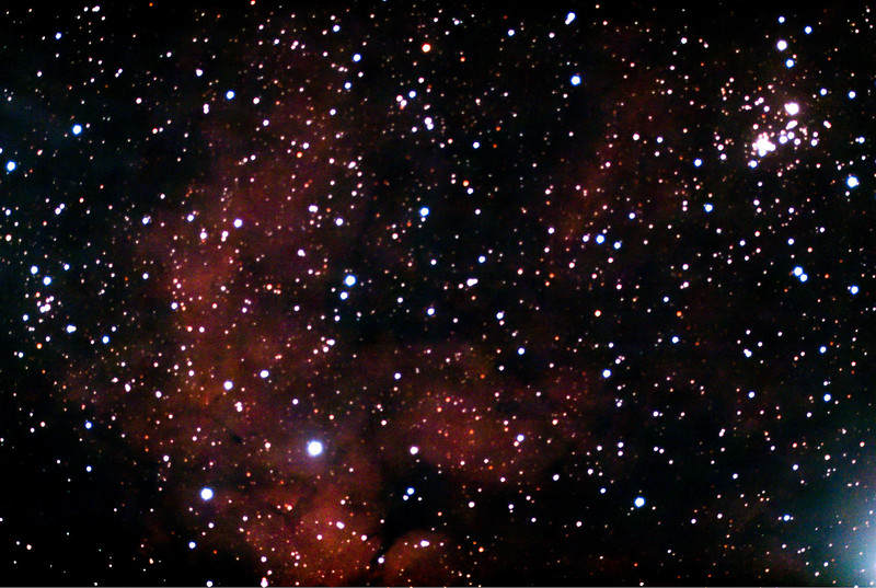 IC1318 Bright Nebula in Cygnus (Northern cross) 4 Mosaic tiles by Stellina of Nebula surrounding the star Sadr at the crossing of the members of the Northern cross