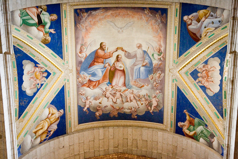 Fresco painting at El Escorial basilica by the Italian painter Cambiaso