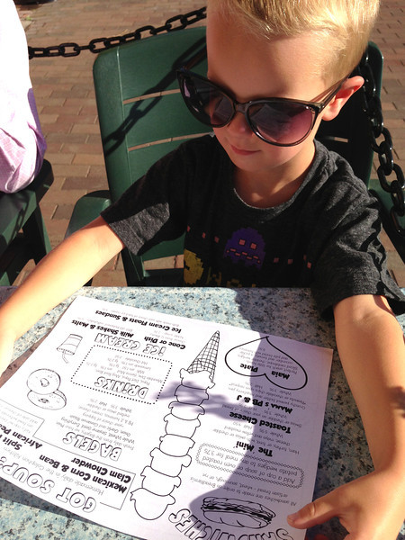 Connor reviews the childrens menu in style.