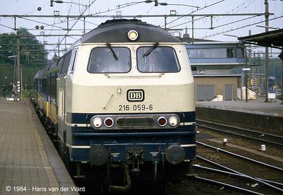 1984-05-19, Farewell run of DB class 218 (NL)