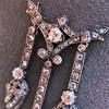 1.63ctw Victorian Triple Drop Diamond Necklace 22