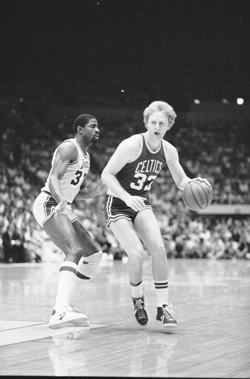 . 6. Larry Bird, shown at right (Assocaited Press file)